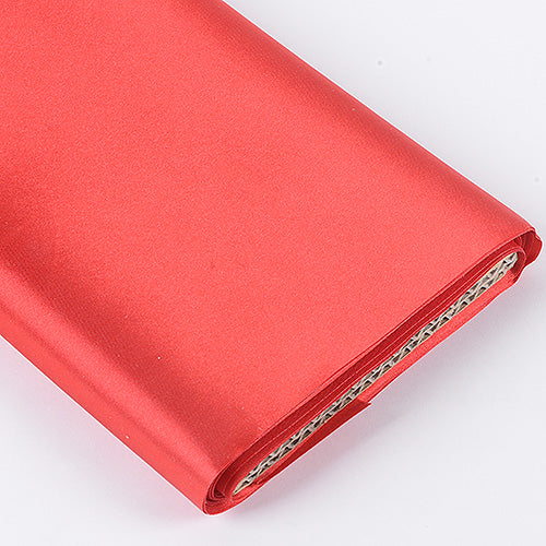 60 inch Red Premium Satin Fabric