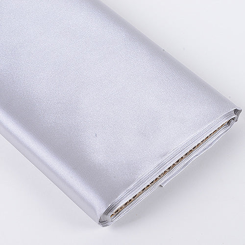 Silver - Premium Satin Fabric - ( W: 60 inch | L: 10 Yards )