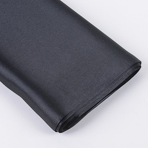 60 inch Black Premium Satin Fabric