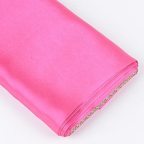 60 inch Shocking Pink Premium Satin Fabric