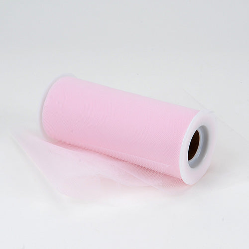 6 inch Light Pink Premium Polyester Tulle Fabric