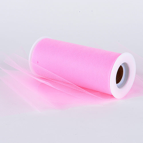 6 inch Hot Pink Premium Polyester Tulle Fabric