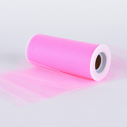 6 inch Paris Pink Premium Polyester Tulle Fabric