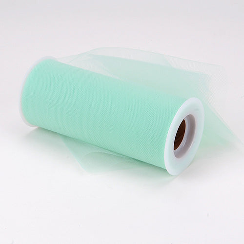 Pre-Order Now & Ship on Feb 19th! 6 inch Mint Premium Polyester Tulle Fabric