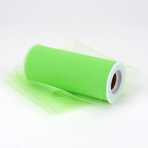 6 inch Apple Green Premium Polyester Tulle Fabric