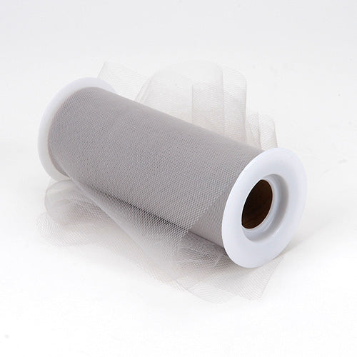 6 inch Silver Premium Polyester Tulle Fabric