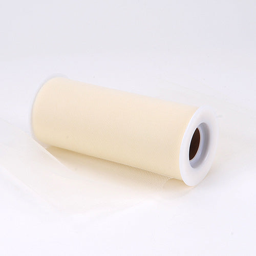 6 inch Ivory Premium Polyester Tulle Fabric