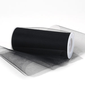 12 inch Black Premium Polyester Tulle Fabric
