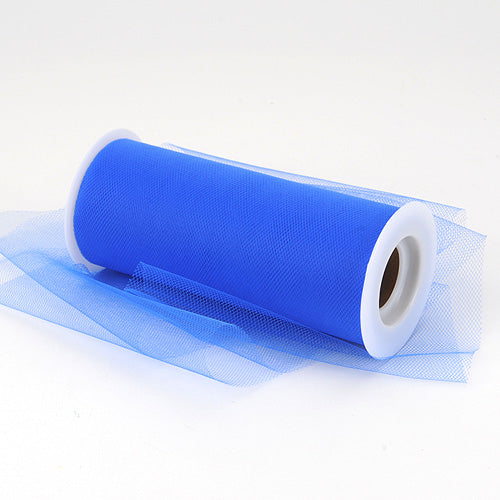 Pre-Order Now & Ship on Feb 19th! 6 inch Royal Blue Premium Polyester Tulle Fabric
