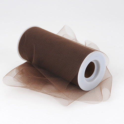 6 inch Chocolate Brown Premium Polyester Tulle Fabric