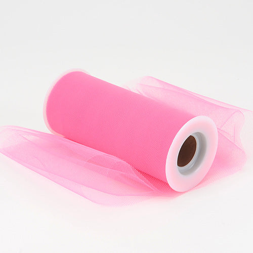 12 inch Shocking Pink Premium Polyester Tulle Fabric