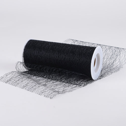Black - Sisal Mesh Wrap ( W: 6 Inch | L: 10 Yards )