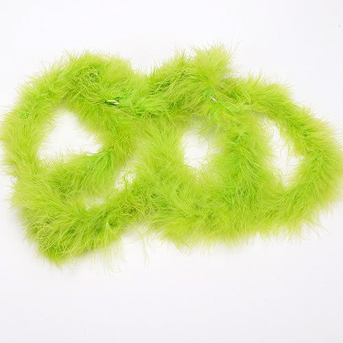 2 Yards Boa Apple Green Long Feather Decorations
