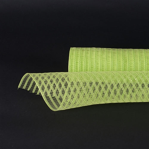 21 Inch x 10 Yards Apple Green Deco Mesh Laser Eyelash