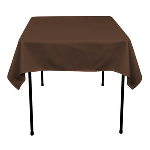 70 inch x 70 inch Chocolate Brown 70 x 70 Square Tablecloths