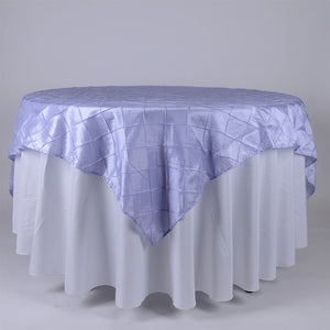 "72 inch Lavender 72"" x 72"" Square Pintuck Satin Overlays"
