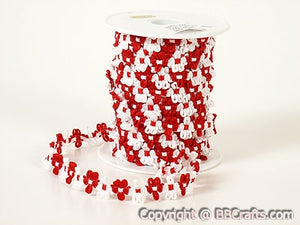 Unisize Red Flower Braid