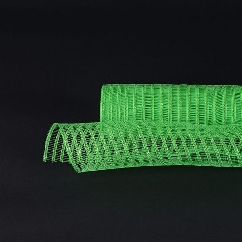 21 Inch x 10 Yards Green Deco Mesh Laser Eyelash