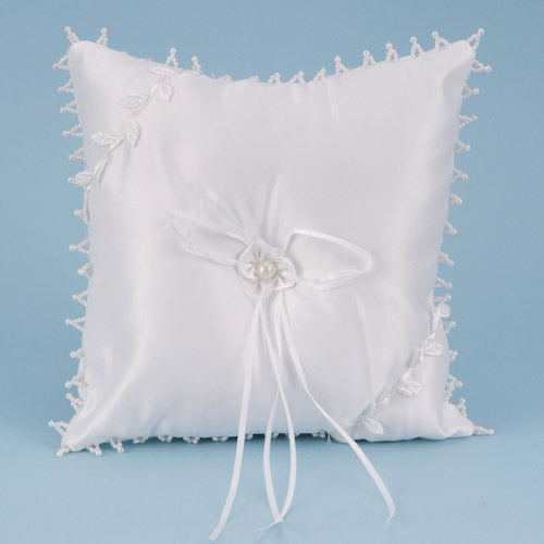 Ring Bearer Pillow White ( 7 Inch x 7 Inch )
