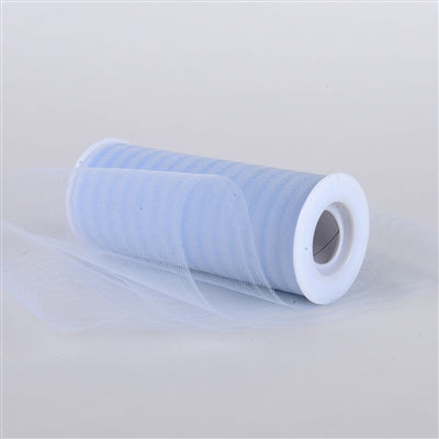 Light Blue Multi Striped Tulle - ( W: 6 inch | L: 10 Yards )
