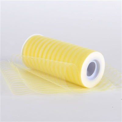 Yellow 6 Inch Multi Striped Tulle