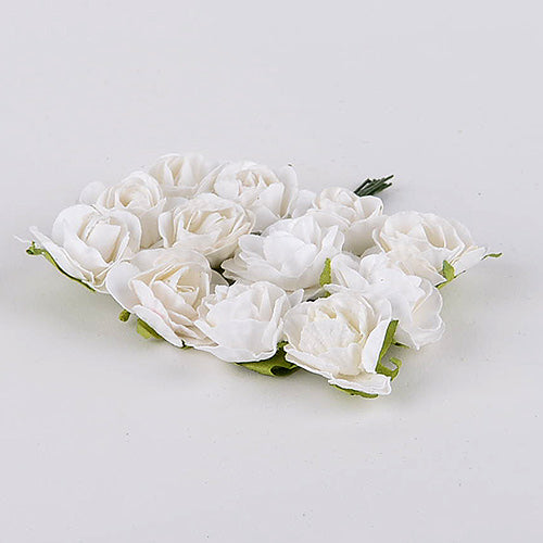 12 Paper Flowers White Paper Flowers (10x12)