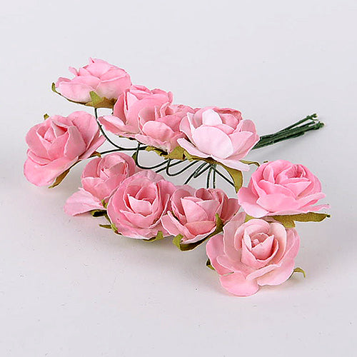 12 Paper Flowers Pink Paper Flowers (10x12)