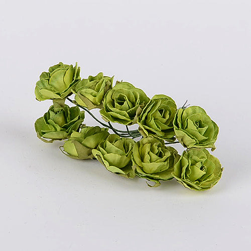 12 Paper Flowers Apple Green Paper Flowers (10x12)
