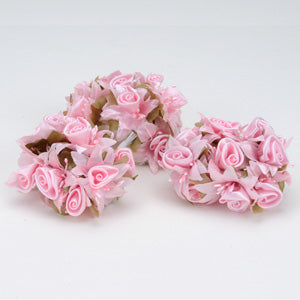 12 Mini Roses Bush Pink Satin Mini Rose Bush