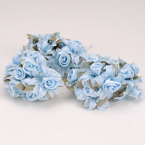 12 Mini Roses Bush Light Blue Satin Mini Rose Bush