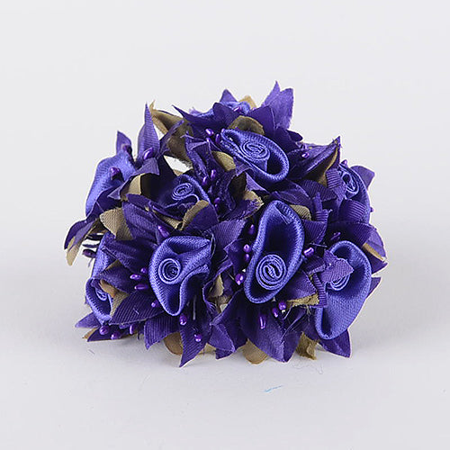 12 Mini Roses Bush Purple Satin Mini Rose Bush