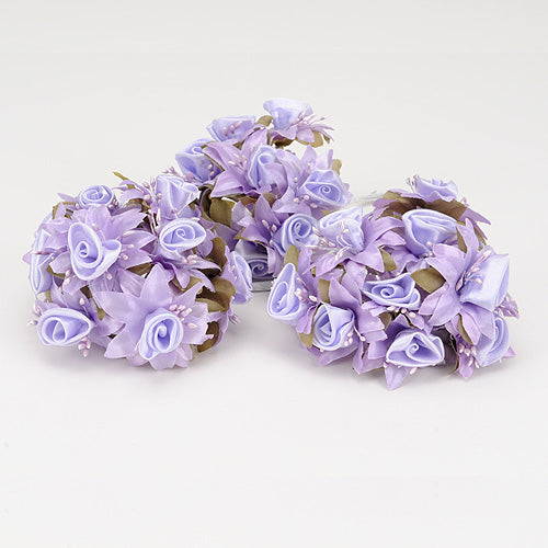 12 Mini Roses Bush Lavender Satin Mini Rose Bush