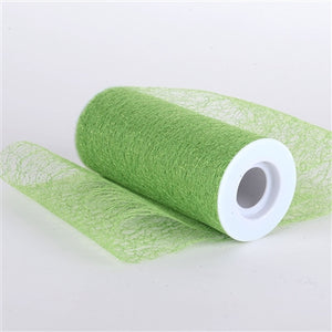 "Apple Green 6"" Glitter Sisal Mesh Rolls"
