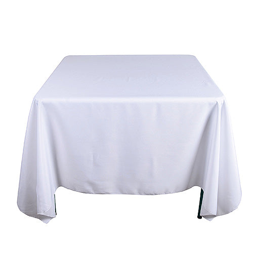 White - 85 x 85 inch Polyester Square Tablecloths