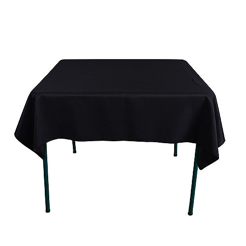 Black - 85 x 85 inch Polyester Square Tablecloths