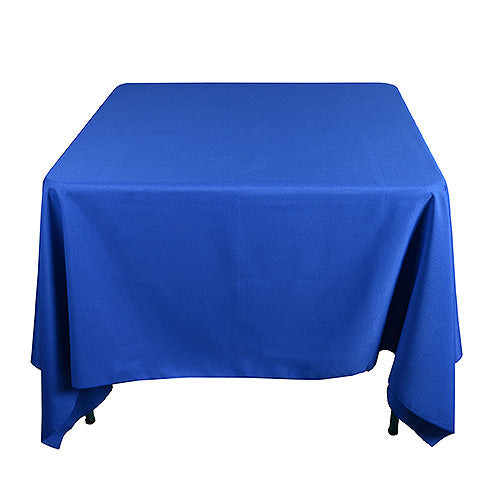 Royal Blue - 85 x 85 inch Polyester Square Tablecloths