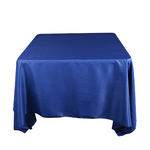 Navy Blue - 85 x 85 inch Polyester Square Tablecloths