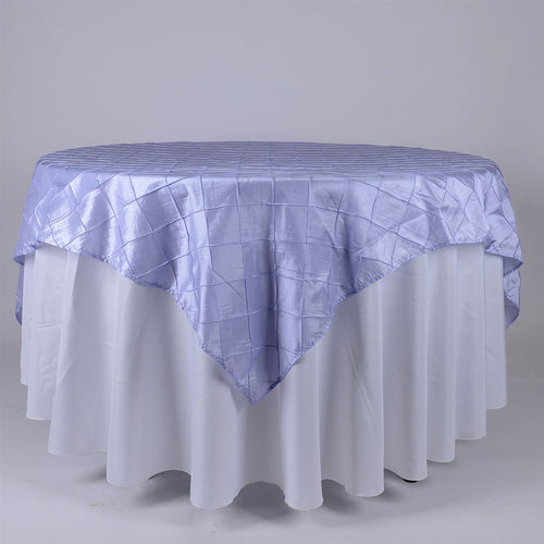 85 inch Lavender 85 x 85 Square Pintuck Satin Overlays