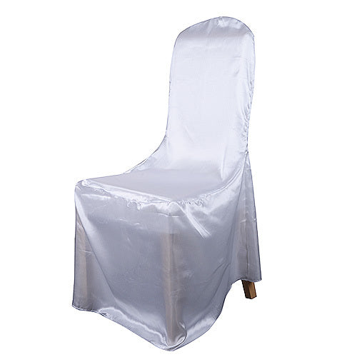 Ivory - Banquet Satin Chair Cover