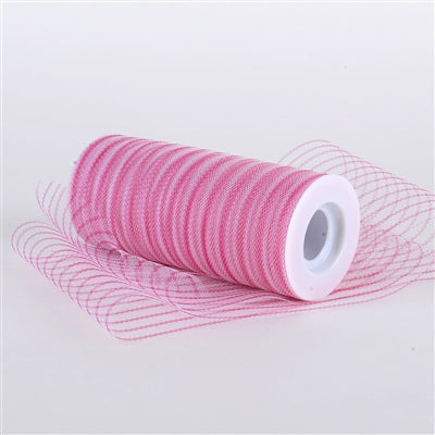 Fuchsia Multi Striped Tulle - ( W: 6 inch | L: 10 Yards )