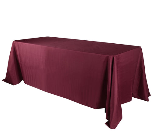 90 inch x 132 inch Burgundy 90 x 132 Rectangle Tablecloths