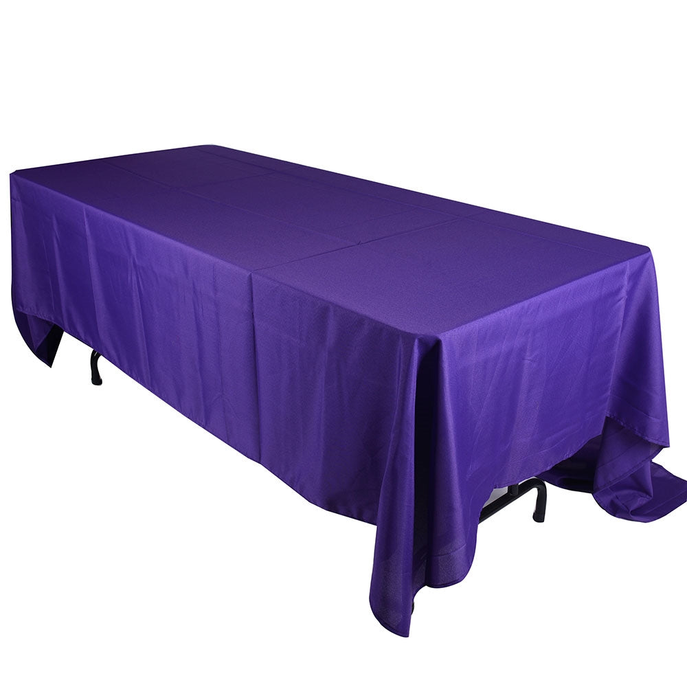90 inch x 132 inch Purple 90 x 132 Rectangle Tablecloths