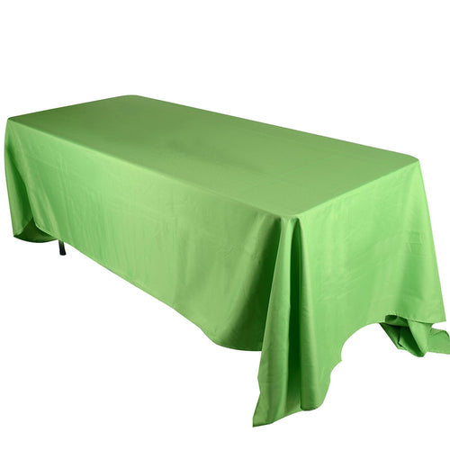 90 inch x 156 inch Apple Green 90 x 156 Rectangle Tablecloths