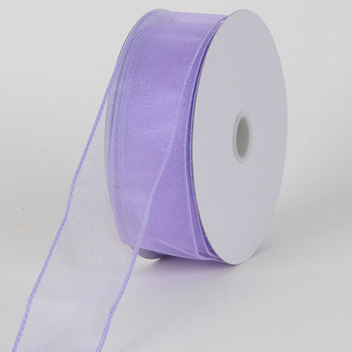 2-1/2 inch Orchid Organza Ribbon Thick Wire Edge 25 Yards