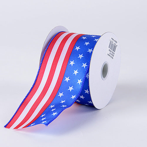 2 1/2 Inch x 10 Yards Flag Flag Design Ribbon