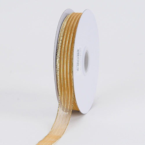 Gold Corsage Ribbon - ( W: 5/8 Inch | L: 50 Yards )