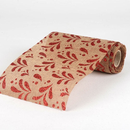 Natural -  Faux Burlap Roll ( W: 6 inch | L: 5 Yards ) - 960049REA