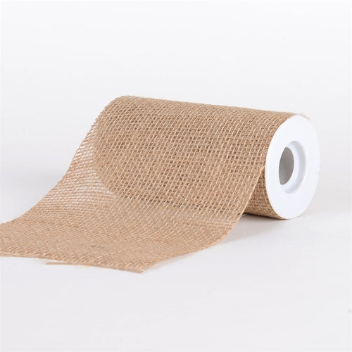Natural -  Faux Burlap Roll ( W: 6 inch | L: 5 Yards ) - 960058GO