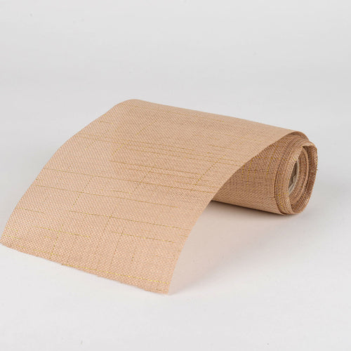 Natural -  Faux Burlap Roll ( W: 6 inch | L: 5 Yards ) - 960584GO