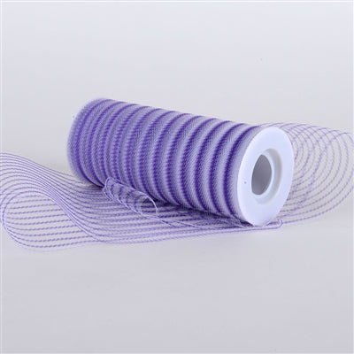 Purple Multi Striped Tulle - ( W: 6 inch | L: 10 Yards )